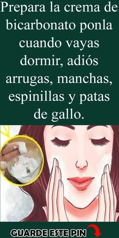 Mascarilla de bicarbonato para arrugas y manchas Beauty Care, Beauty Skin, Health And Beauty, Face Beauty, Beauty Makeup, Beauty Secrets, Beauty Hacks, Fitness Inspiration, House Of Beauty