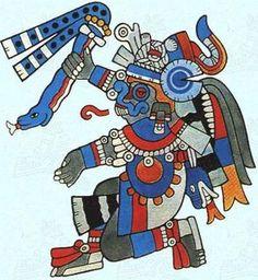 Tlaloc the Aztec God of Rain Mexican Gods, Ancient Aztecs, Ancient Civilizations, Aztec Culture, Mexico Art, Aztec Art, Mesoamerican, Indigenous Art, Native American Art