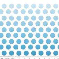 Ombre DotsNavy1 yardRiley Blake by freshsqueezedfabrics on Etsy, $10.00