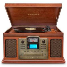 CD Recorder Record Player Turntable Cassette AM FM Radio Entertainment System…