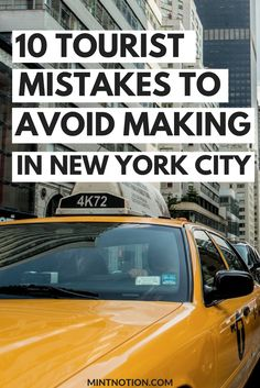 Visiting New York City? Tourist mistakes to avoid making. NYC on a budget.