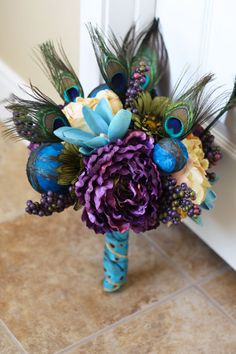 Peacock Wedding Bouquet  Peacock Feathers by SouthernGirlWeddings, $100.00