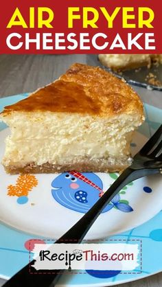 Air Fryer Cheesecake. How to make a delicious cheesecake in the air fryer. With 6 different variations from New York Cheesecake to fruity to caramel to birthday cake and beyond. Just choose which air fryer cheesecake you would like to make first. #airfryer #airfryerrecipes #airfryercheesecake #newyorkcheesecake #cheesecakerecipes Air Fryer Cake Recipes, Air Frier Recipes, Air Fryer Dinner Recipes, Air Fryer Recipes Easy, Donut Recipes, Oven Recipes, Snack Recipes, Ninja Recipes, How To Make Cheesecake