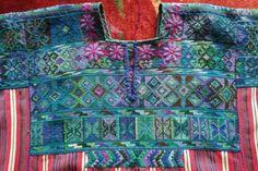 De gran tamaño vintage guatemalteca huipil