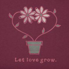 Women's Let Love Grow Crusher Tee|Life is good