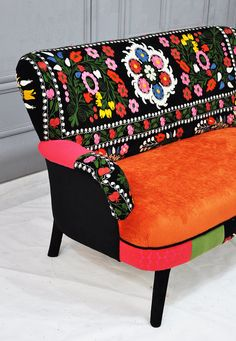 Patchwork sofa with suzani fabrics  2 by namedesignstudio