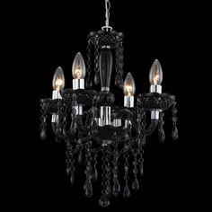Kronleuchter Louna 4L Klassisch Kristall Black #kronleuchter #lassisch  #kristall #black Hier Gehts