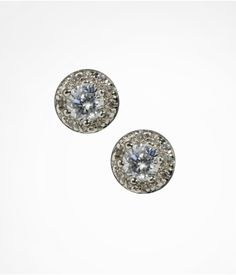 CUBIC ZIRCONIA AND PAVE STUD EARRINGS | Express