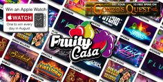 Fruity Casa are offering 10 free spins for Gonzo's Quest witha 150% match deposit bonus up to £250…just register an account and away you go!