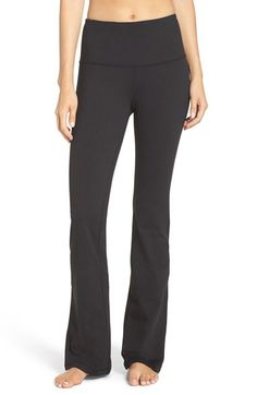 Free shipping and returns on Zella 'Barely Flare Booty' High Waist Pants at Nordstrom.com. The flex-fit construction of these favorite fitness pants creates a leg-lengthening silhouette with a wide compression waistband, snug fit through the hips and thighs and subtle flare toward the hem. Cut from a moisture-wicking, four-way-stretch fabric, the style takes you from workout to relaxing with ease.