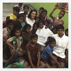 Samira visiting the orphanage for boys in Bangalore yesterday as part of the #bPositive press tour