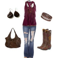 Brown and Maroon, created by sarah-jones-3 on Polyvore | best stuff
