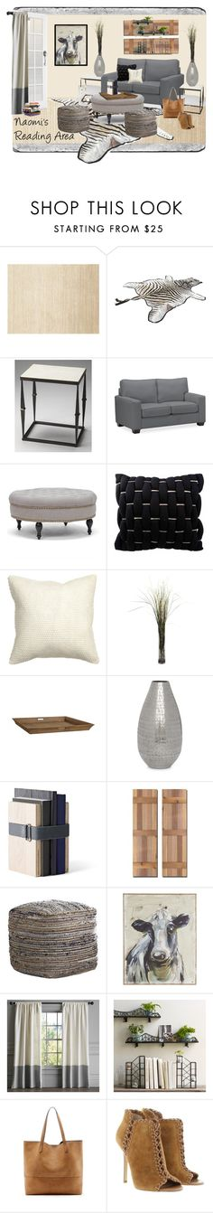 """""""Naomi's Reading Area"""" by annetuckley on Polyvore featuring interior, interiors, interior design, home, home decor, interior decorating, Polaroid, Calvin Klein, Butler Specialty Company and Pottery Barn"""