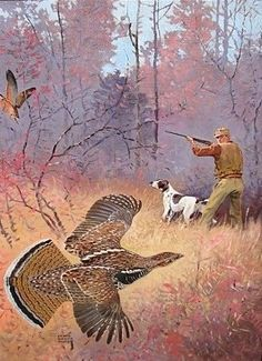 Survival camping tips Hunting Art, Duck Hunting, Hunting Dogs, Wildlife Paintings, Dog Paintings, Wildlife Art, Grouse Hunting, Pheasant Hunting, Outdoor Paint