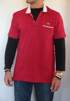 LACOSTE Red Polo Shirt. Size 6.