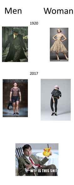 fashion went from being classy as fuck to being I dont know what the Fuck.