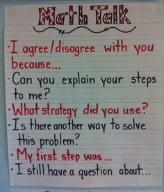 This anchor chart provides questions and sentence stems students can use in…