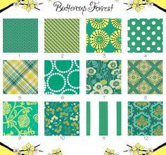 ButtercupForrest Crib Sheet Fabrics via Etsy