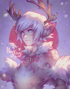 by jurikoi Something lighthearted I did fore pure fun and to celebrate the holidays Merry Christmas everyone, I love you! Furry Art, Character Inspiration, Character Art, Character Design, Anime Snow, Chibi, Deer Girl, Art Mignon, Monsters