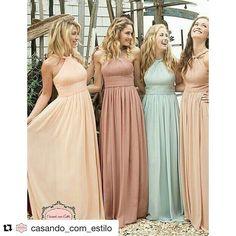 Tons pastéis leves e lindos para  madrinhas do campo ou praia.  Inspiração @casando_com_estilo  #casandocomestilow#madrinhas#madrinhasdecasamento#vestidodemadrinha#bridsmaids#dressbridesmaid#dress#vestidos#fashionbride#modern#bride#ido#glam#weddingphotography