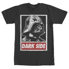 Star Wars Dark Side Poster Mens Graphic T Shirt, Men's, Size: Small, Black