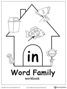 IN Word Family Workbook for Kindergarten: Use our IN Word Family Workbook to help your child develop a wide range of skills including phonics, reading, writing, drawing, coloring, thinking skills, sorting, and more. The IN Word Family Workbook includes several engaging printable worksheets.