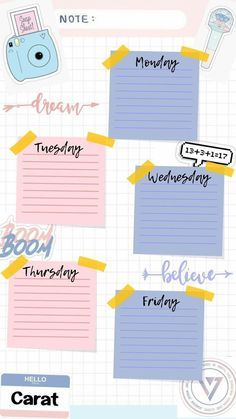 Kumpulan template jadwal pelajaran yang cantik & lucu-lucu —a thread Study Schedule Template, Timetable Template, Schedule Design, Weekly Planner Template, Notes Template, Bullet Journal Lettering Ideas, Bullet Journal Ideas Pages, Paper Background Design, To Do Planner