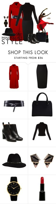 """""""Chic Minimalist Style"""" by adklover ❤ liked on Polyvore featuring Dolce&Gabbana, Victoria Beckham, Isabel Marant, Stephane Kélian, Haider Ackermann, Anine Bing, Nak Armstrong, Larsson & Jennings and Giorgio Armani"""