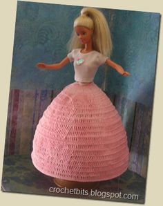 several free crochet patterns for Barbie doll clothes