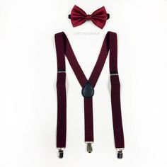 Burgundy suspenders, burgundy bowtie, suspenders and bowtie, bowtie and suspenders, maroon suspenders, maroon bowtie for children and adults by crystalAmour on Etsy https://www.etsy.com/listing/205671060/burgundy-suspenders-burgundy-bowtie