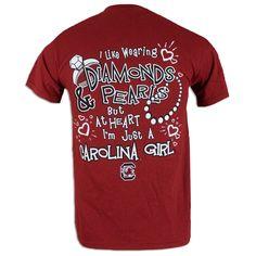 South Carolina Gamecock Ladies Diamonds T-Shirt