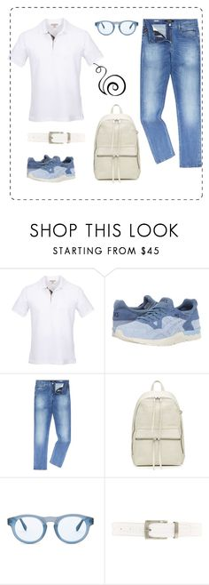 """Без названия #148"" by uleetka ❤ liked on Polyvore featuring Burberry, Asics Tiger, Replay, Rick Owens, RetroSuperFuture, NIKE, men's fashion and menswear"