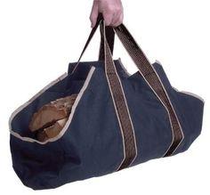 Canvas Log Carrier Tote Bag Handle Firewood Storage Holder Organizer Fireplace #Panacea