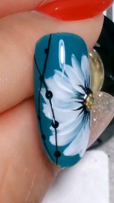 nail art designs easy \ nail art designs - nail art - nail art videos - nail art designs for spring - nail art designs easy - nail art designs for winter - nail art diy - nail art designs summer Cute Nail Art, Nail Art Diy, Easy Nail Art, Cute Nails, Simple Nail Art Videos, Sharpie Nail Art, Nail Art At Home, Diy Nails At Home, Floral Nail Art