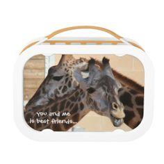 Cute! BFF Giraffes! do ya want 1/2 of my pb&j ? Lunch Box