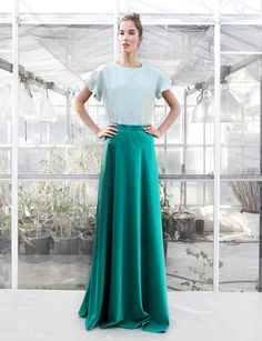 Conjunto falda larga Isabella top Claudia