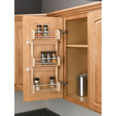 Shop Rev-A-Shelf 9.62-in W x 3.12-in D x 21.50-in H 3-Tier Wood Pull Out Cabinet Basket at Lowes.com