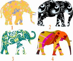Elephant Wall Decals Set for Nursery by Popitay on Etsy, $25.00