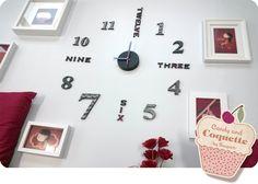 reloj pared washitape