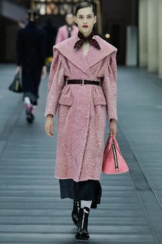 Miu Miu Fall/Winter 2013-2014, powder pink coat