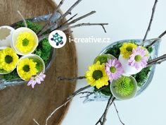 velikonoční dekorace na stůl
