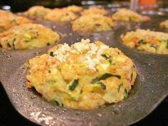 Zuchini Tots Ingredients 1 cup Zucchini, Grated 1 Egg ¼ whole Yellow Onion, Diced Or Grated... ¼ cups Cheese ( I used Parm) ¼ cups Italian Style Bread Crumbs Salt And Pepper  Directions: 1. Preheat oven to 400ºF. Spray a mini-muffin tin with nonstick spray, set aside. 2. Grate the zucchini and then place it in a dish towel and squeeze out the excess water( make sure you do this), like you would do with frozen spinach. 3. In a bowl combine, the egg, onion, cheese, bread crumbs, zucchini, salt…