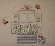 Block Nine of 'Le Jardin' Quilt designed by Bronwyn Hayes of Red Brolly Designs
