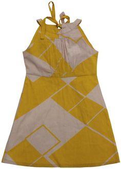 Maan  dress old pink yellow