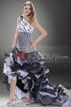 セクシーコラム床長さワンショルダーイブニング/イベントドレス