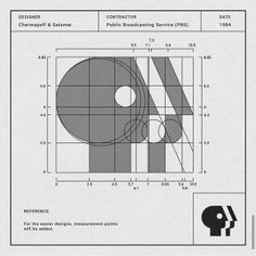 Designer: Chermayeff & Geismar Contractor: PBS Patti Siler Date: 1984 Information. The P head logo was originally created by Herb Lubalin in 1971 after there very first word stack logo. It's only until 1984 when Chermayeff & Geismar modified it. Logo Inspiration, Arquitectura Logo, Logo Branding, Branding Design, Typo Logo, Logo Process, Learning Logo, Famous Logos, Photoshop