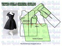 Швейная комната. Лучшие выкройки! Gown Pattern, Collar Pattern, Pattern Cutting, Pattern Making, Sewing Clothes, Diy Clothes, Vintage Patterns, Vintage Sewing, Clothing Patterns