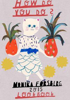 Monika Forsberg 2015 lookbook The art, illustration and patterns of Walkyland's Monika Forsberg