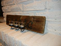 Reclaimed Ontario barn board candle holder