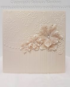 #HeartfeltCreatiions Arianna Blooms with the All Occasions embossing folder.  Tutorial on how to make the flowers.